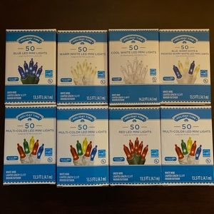 Bundle 8 Boxes LED Mini Lights Indoor Outdoor NWT